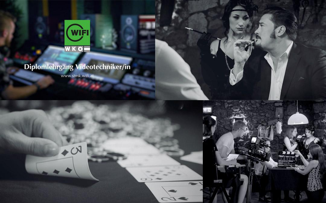 Filmdreh im Eventkölla für WIFI Diplomlehrgang Videotechniker/in